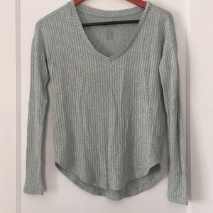 AE Soft & Sexy Ribbed Long Sleeve Favorite T-Shirt